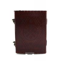 Notitieboek 22 x 15 cm ,Buffelleer uit India 100 blz , handgeschept blanco papier