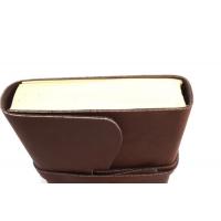 Notitieboek / gastenboek / dagboek 22 x 15 cm ,Buffelleer uit India 100 blz , handgeschept blanco papier
