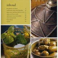 Geschenkset 2 persoons tajine / kookboek/ 3 zakjes kruiden